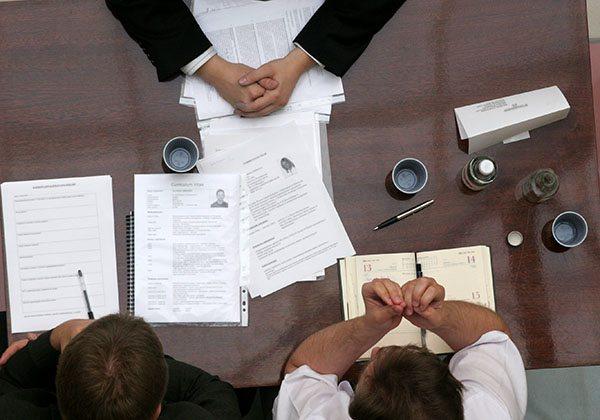 business people talk - body language
